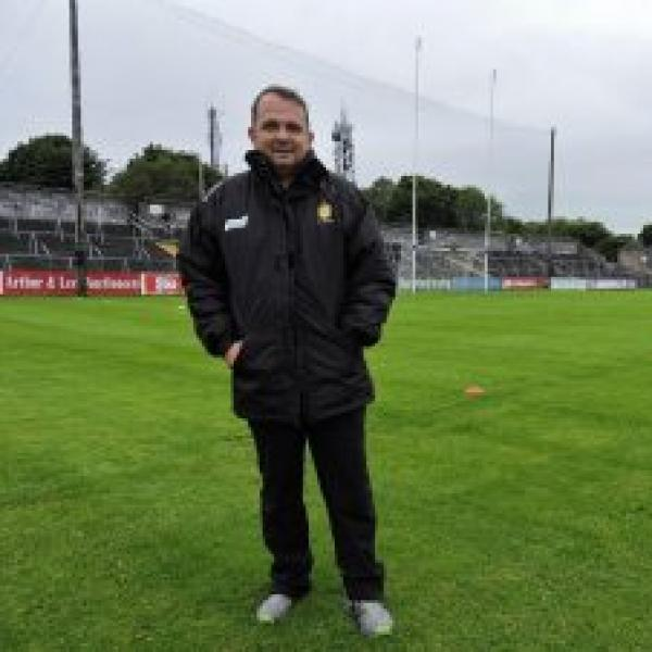 Davy Fitzgerald on a hurling pitch