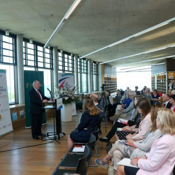 Minister Michael Ring T.D. Launching the New National Libraries Strategy