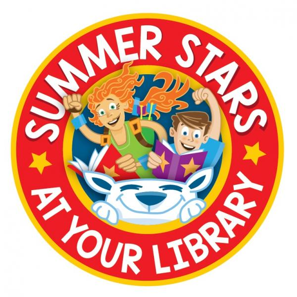 Logo from 2018 for the Summer Stars reading programme.