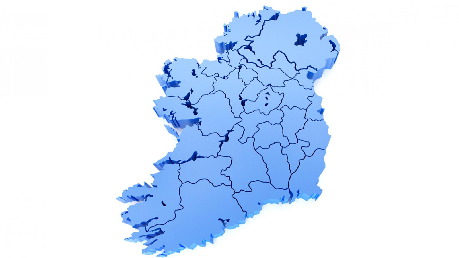 Map of Ireland - smaller
