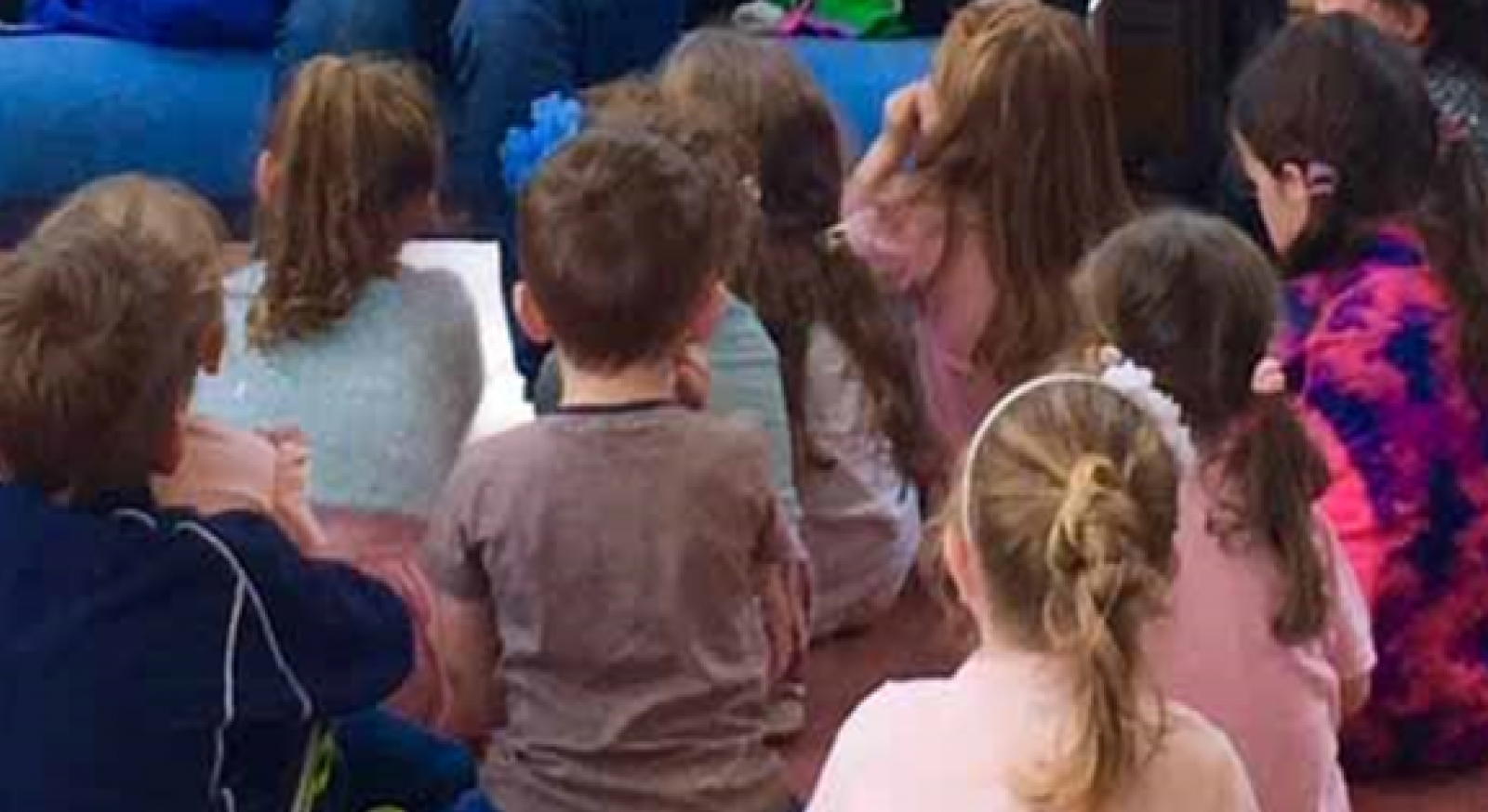 Children at a library event